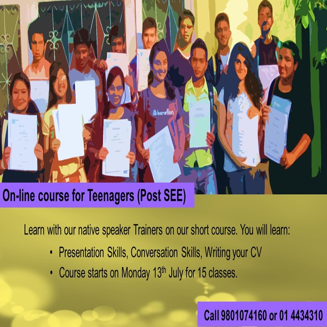English For All On-line course for Teenagers - Post SEE